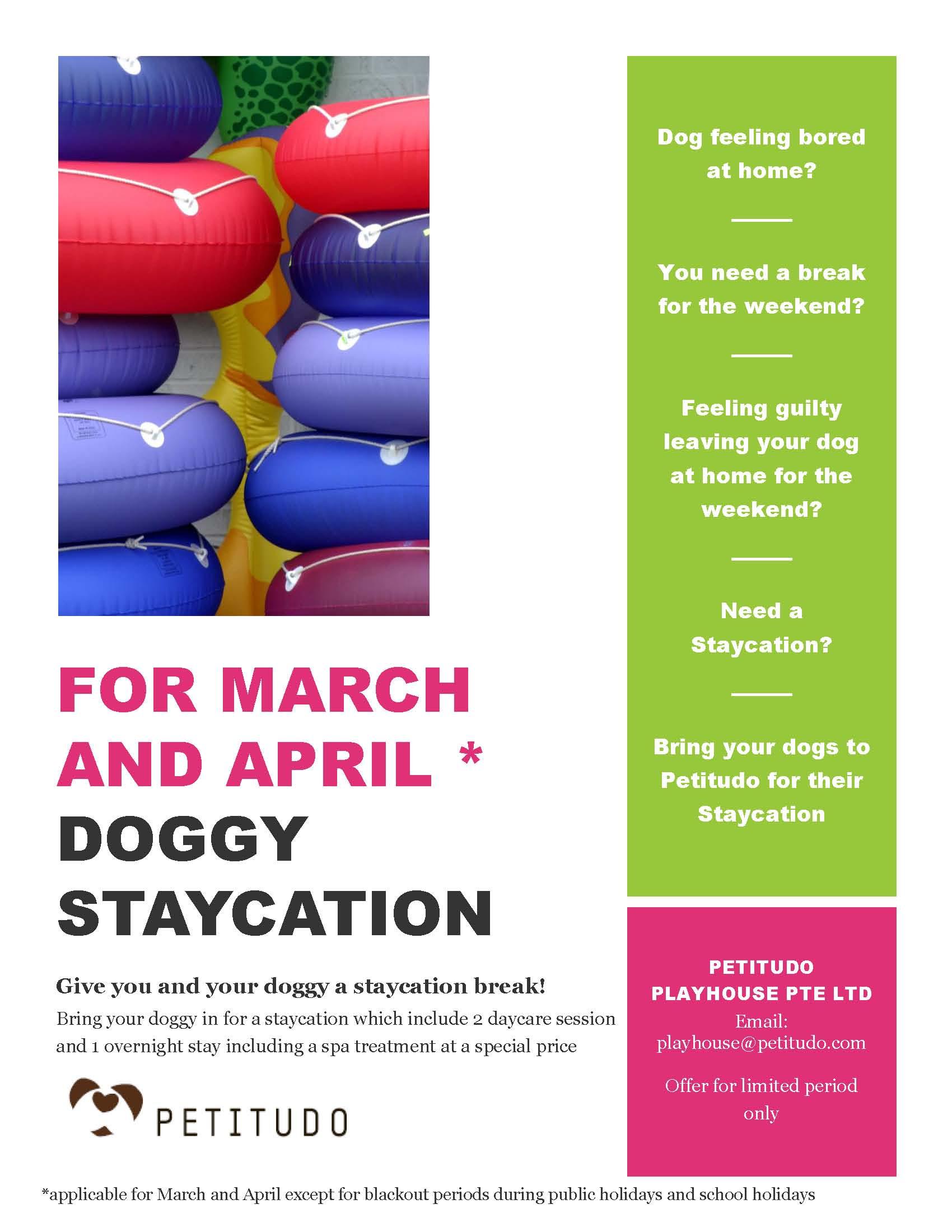 Staycation Promo March April 2014