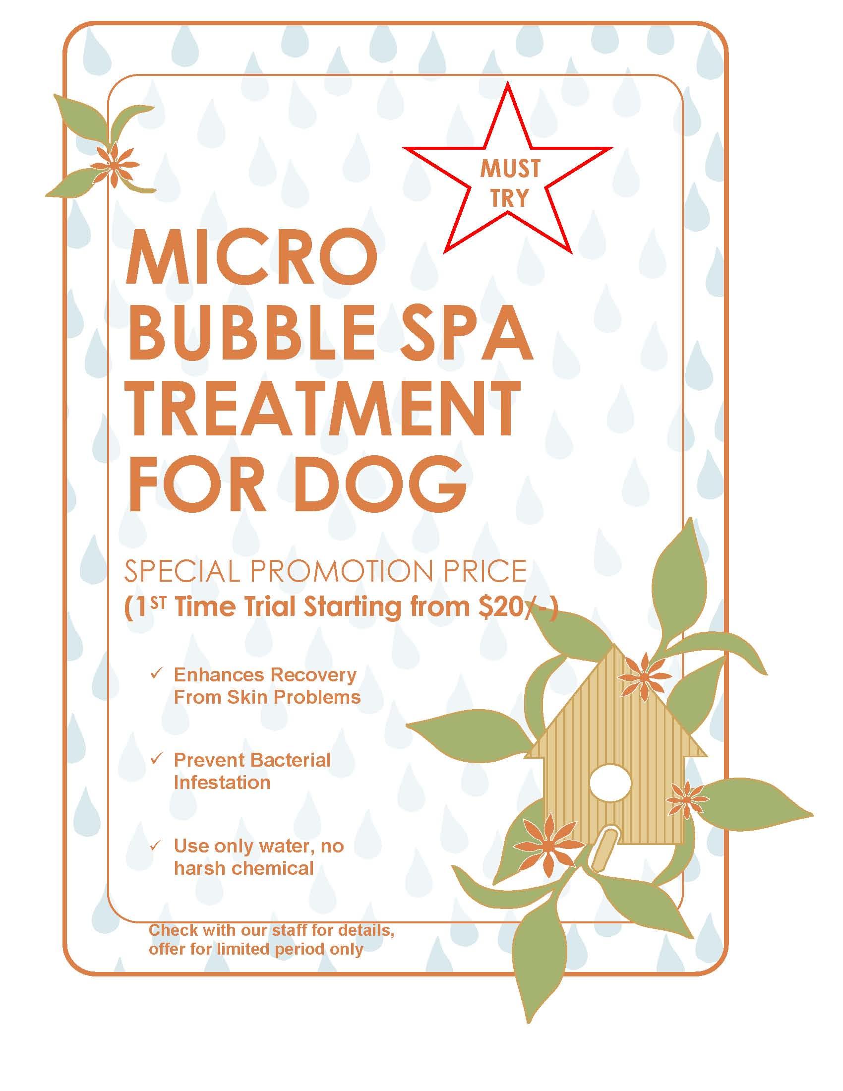 Micro bubble spa treatment for dog 2014